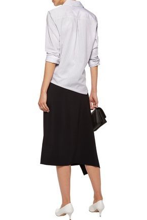 EQUIPMENT Essential striped cotton-poplin shirt