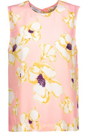 EQUIPMENT FEMME Reagan floral-print washed-silk top