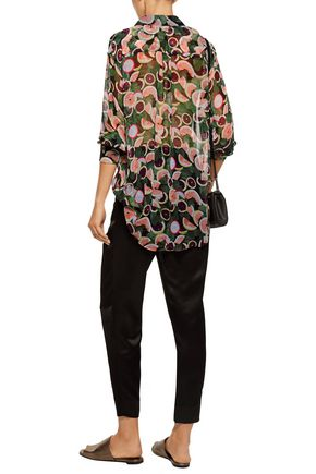 EQUIPMENT Daddy printed silk-chiffon shirt