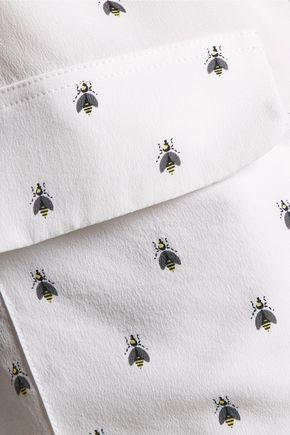 EQUIPMENT Slim Signature printed washed-silk top