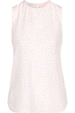 EQUIPMENT Lyle printed washed-silk top