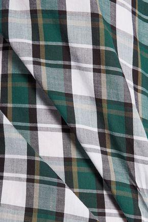 EQUIPMENT Plaid cotton shirt
