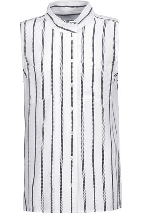 EQUIPMENT Striped washed-silk top