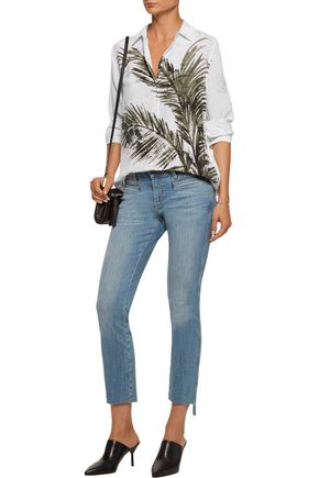 EQUIPMENT FEMME Essential printed washed-silk shirt