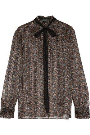 PHILOSOPHY di LORENZO SERAFINI Ruffled floral-print silk-chiffon blouse