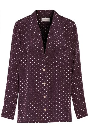ZIMMERMANN Karmic polka-dot silk crepe de chine shirt