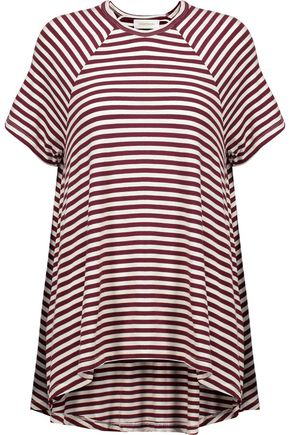 ZIMMERMANN Asymmetric striped stretch-jersey top