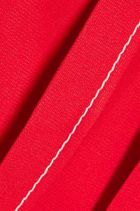 CHLOÉ Textured-crepe halterneck top