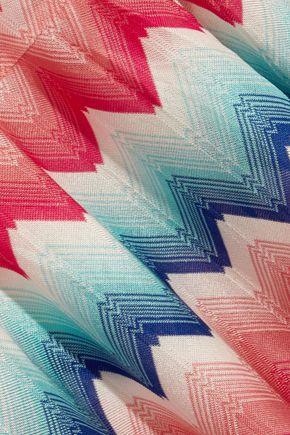MISSONI Pleated crochet-knit kaftan