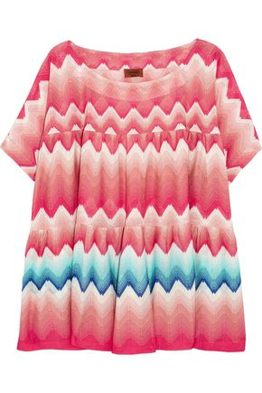 MISSONI Pleated crochet-knit kaftan