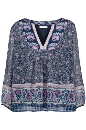 JOIE Perialla printed silk-georgette blouse