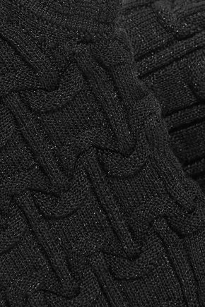 CARVEN Ruffle-trimmed cloqué turtleneck top