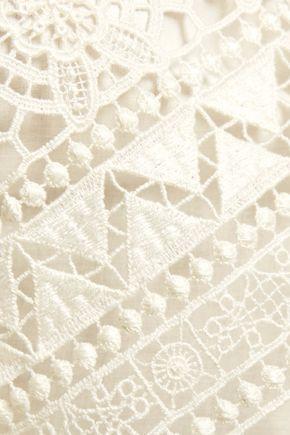 PHILOSOPHY di LORENZO SERAFINI Broderie anglaise cotton top