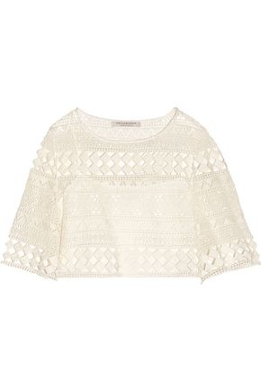 PHILOSOPHY di LORENZO SERAFINI Broderie anglaise cotton top