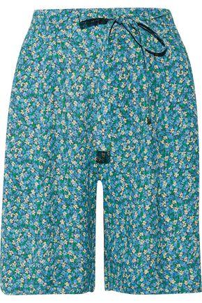 PHILOSOPHY di LORENZO SERAFINI Belted printed crepe shorts