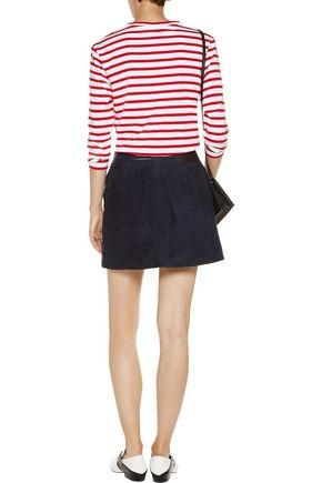 ÊTRE CÉCILE Printed striped cotton top