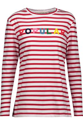 ÊTRE CÉCILE Printed striped cotton top