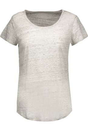 MAJESTIC FILATURES Wrap-effect marled linen top