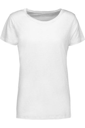 MAJESTIC Slub stretch-linen T-shirt