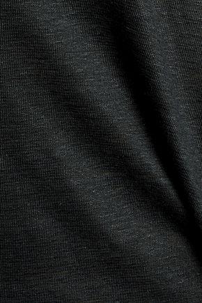 MAJESTIC Slub stretch-linen T-shirt