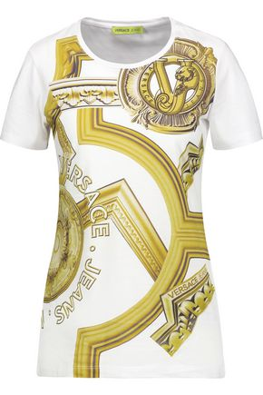 VERSACE JEANS Printed cotton T-shirt