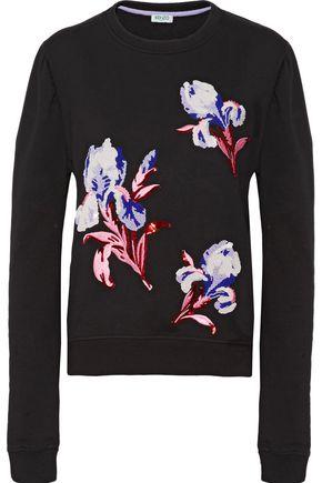KENZO Embellished embroidered cotton sweatshirt