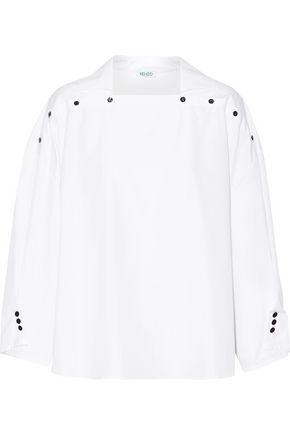 KENZO Embellished cotton-poplin top