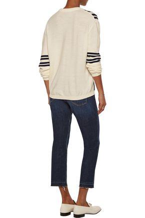 M.I.H JEANS Frieda striped waffle-knit merino wool sweater