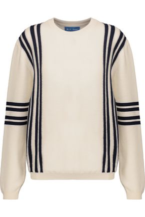 M.I.H JEANS Frieda striped waffle-knit merino wool sweater
