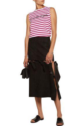 ÊTRE CÉCILE La Vie Los Angeles flocked striped cotton-jersey top