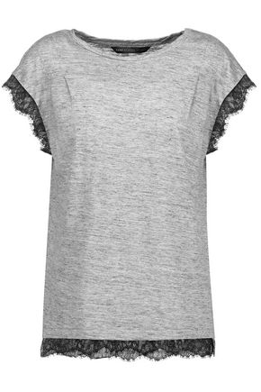 MARC BY MARC JACOBS Carmen lace-paneled linen-jersey top