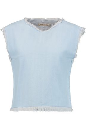 MARC BY MARC JACOBS | Marc By Marc Jacobs Frayed Denim Top | Goxip