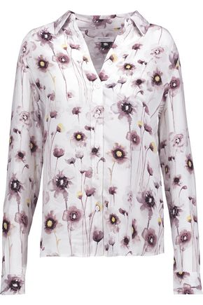 EQUIPMENT Brett floral-print washed-silk shirt
