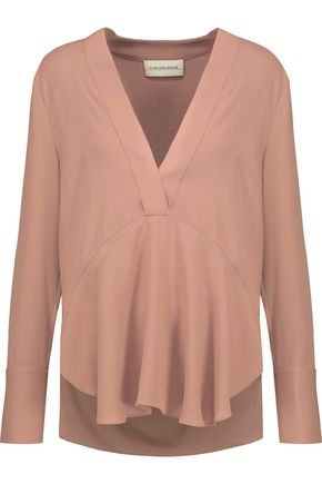 BY MALENE BIRGER Dosiana crepe de chine blouse