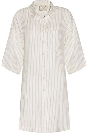 SEA Striped linen top
