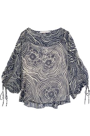 SEE BY CHLOÉ Printed silk-chiffon top
