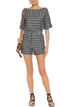 SEE BY CHLOÉ Striped cotton-blend top