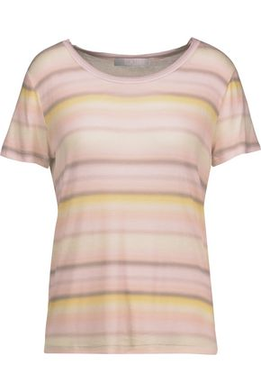 KAIN Sabine appliquéd striped stretch-modal T-shirt