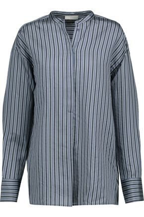 VINCE. Striped silk-satin shirt
