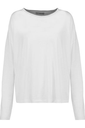 VINCE. Stretch-Pima cotton top
