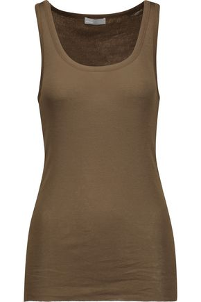 VINCE. Stretch-Pima cotton tank