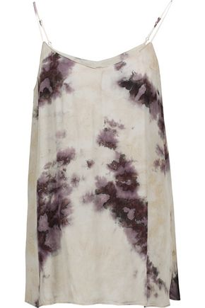 ENZA COSTA Tie-dyed satin camisole