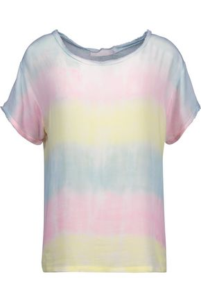 KAIN Carine frayed tie-dyed gauze top