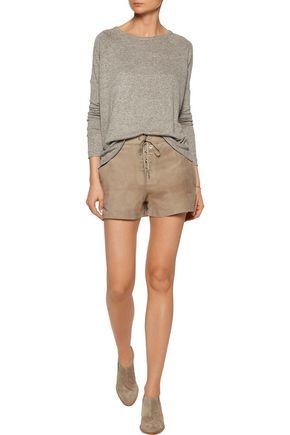 RAG & BONE Lace-up suede shorts