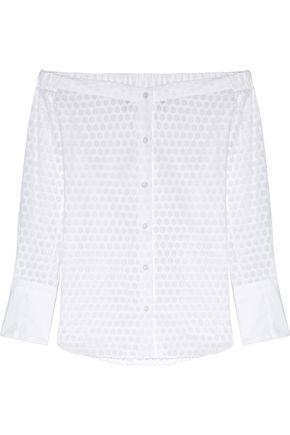 RAG & BONE Kacy off-the-shoulder fil coupé cotton top