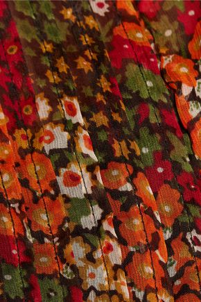 W118 by WALTER BAKER Morgan pleated-paneled printed chiffon top