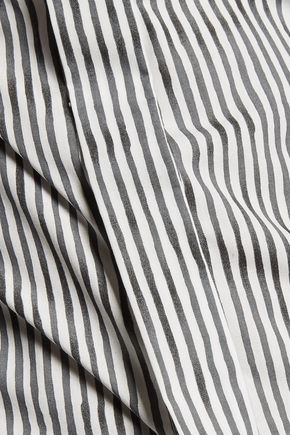 RAG & BONE Ara split-back striped cotton-poplin top