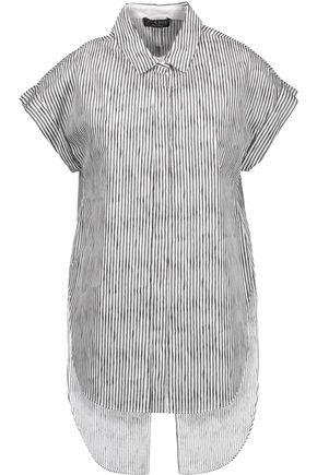 RAG & BONE Ara split-back striped cotton-poplin top