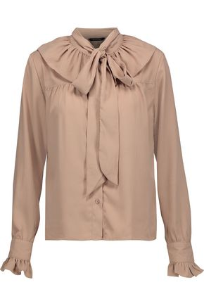W118 by WALTER BAKER Heather pussy-bow crepe de chine blouse