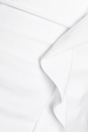 MARISSA WEBB Gloria ruffle-trimmed stretch-cady top